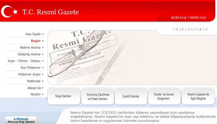 30/12/2018 Tarihli Resmi Gazete (Mükerrer)'de Yayımlanan Mevzuat