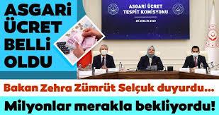 2021 Yılı Asgari Ücret